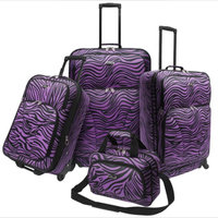 Traveler's Choice U.S. Traveler U.S. Traveler Fashion 4 piece Spinner Luggage Set, Purple Zebra Print - TRAVELER'S CHOICE uploaded by denise r.