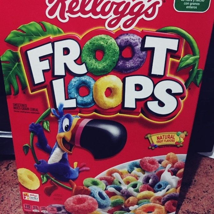 Kellogg's Froot Loops Cereal uploaded by Chrissy F.
