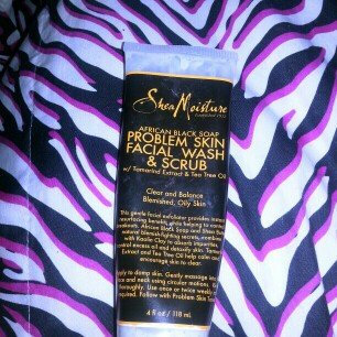 SheaMoisture African Black Soap Problem Skin Facial Wash & Scrub uploaded by Starr C.