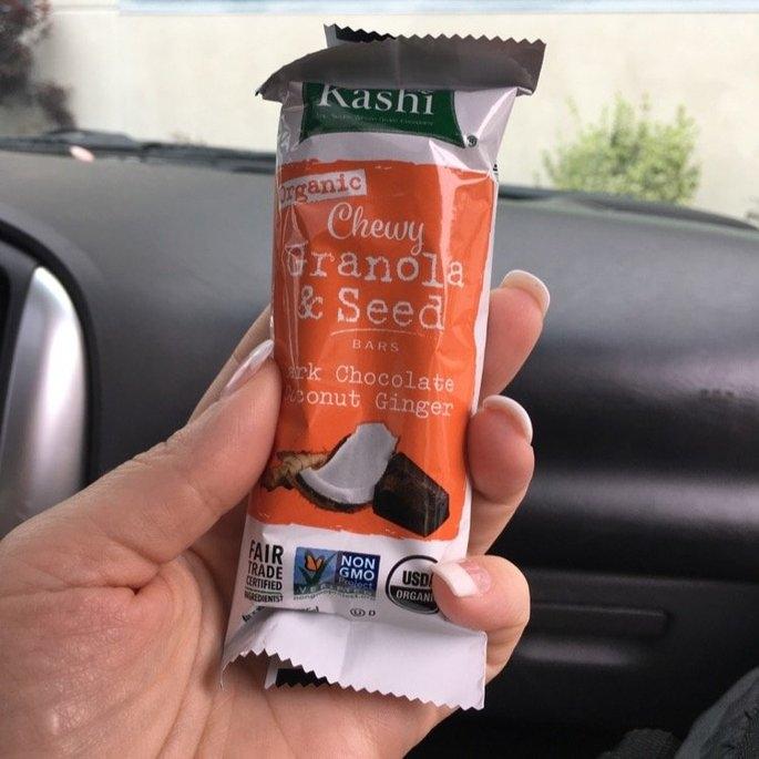 Kashi® Organic Dark Chocolate Coconut Ginger Chewy Granola & Seed Bars 1.2 oz. Wrapper uploaded by Amanda R.