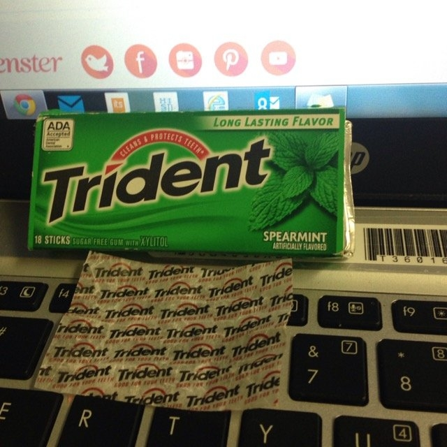 Trident Spearmint Sugar Free Gum uploaded by Jackie L.