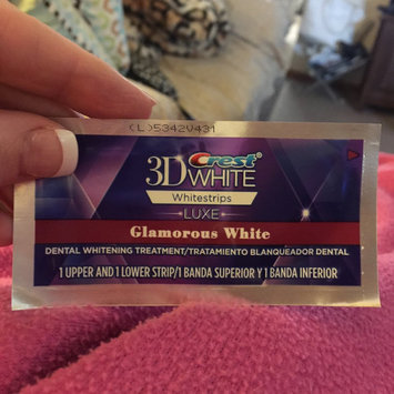 Advanced Seal Crest 3D White Luxe Whitestrips Glamorous White - Teeth Whitening Kit 14 Treatments uploaded by Glenda W.