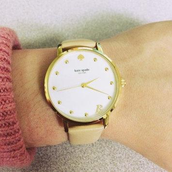 Photo of kate spade new york Women's Monogram Metro Mint Splash Leather Strap Watch 34mm KSW1100 uploaded by Allisa B.