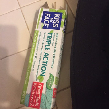 Photo of Kiss My Face Triple Action Fluoride-Free Natural Aloe Toothpaste Gel with Xylitol, Cool Mint, 4.5 oz uploaded by Shawn A.