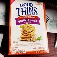 Good Thins Garlic & Herb Chickpea Snacks uploaded by Sonya B.