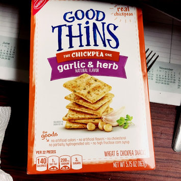 Good Thins Garlic & Herb Chickpea Snacks uploaded by Sonya B.