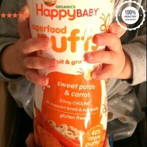 Photo of HappyBaby Organic Gluten Free Finger Food for Babies Sweet Potato Puffs uploaded by Allison D.