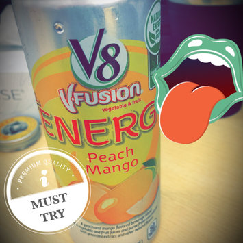 Photo of V8® V-Fusion + Energy Peach Mango Flavored Vegetable & Fruit Juice uploaded by Kristina F.