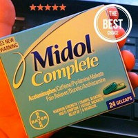 Midol Complete Pain Relief/Stimulant/Diuretic Gelcaps uploaded by Selena A.