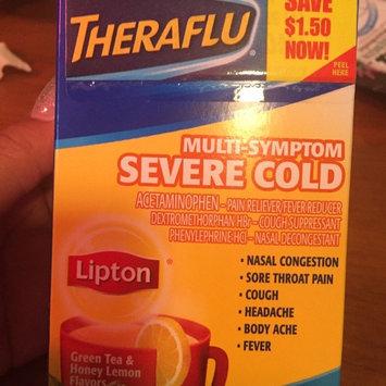 Photo of Theraflu Multi-Symptom Severe Cold Packets Lipton Green Tea & Honey Lemon Flavors - 6 CT uploaded by Tantanea J.