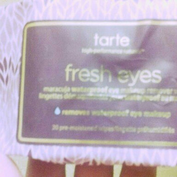 Photo of tarte Fresh Eyes Maracuja Waterproof Eye Makeup Remover Wipes uploaded by Amanda W.