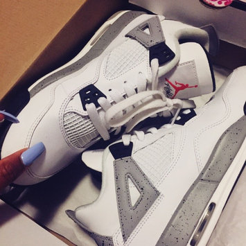 Photo of Air Jordan 4 Retro OG Kids' Shoe, by Nike Size 3.5Y (White) uploaded by Sierra P.
