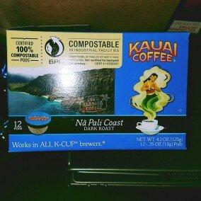 Photo of Kauai Coffee® Na Pali Coast Dark Roast Single Serve Cups 12 ct Box uploaded by Candice P.