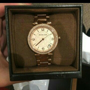 Photo of Michael Kors Rose Golden Stainless Steel and Tortoise Acetate Watch uploaded by lisa l.