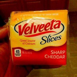 Velveeta Cheese Slices Sharp Cheddar - 16 CT uploaded by Benji P.