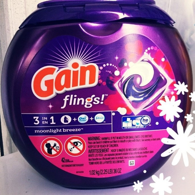 Gain Flings! Moonlight Breeze Laundry Detergent Pacs uploaded by Tessa L.