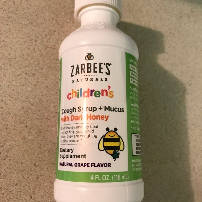Zarbee's Naturals Children's Grape Cough Syrup + Mucus Relief - 4 oz uploaded by Lisa S.