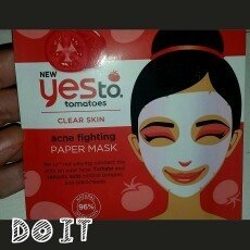 Yes to Tomatoes Clear Skin Acne Fighting Sheet Mask uploaded by Ashley P.