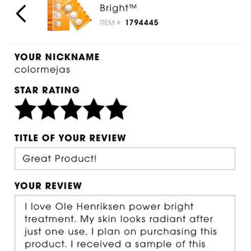 Ole Henriksen POWER Bright™ uploaded by Jasmyne H.