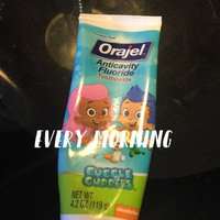 Orajel Bubble Guppies Anticavity Fluoride Toothpaste, 2+ Years, Fin-tastic Fruit, 4.2 oz uploaded by Autumn F.