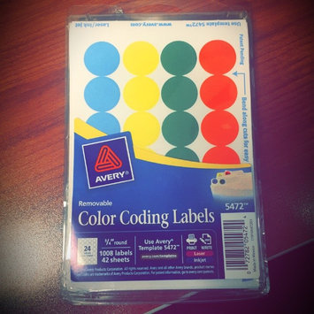 Photo of Avery Print or Write Round Color-Coding Removable Labels uploaded by Kayla D.