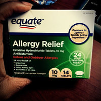 Equate - Allergy Cetirizine 10 mg, 14 Tablets (Compare to Zyrtec) uploaded by Whitney B.