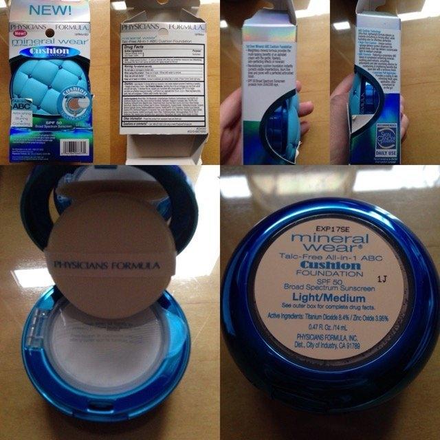 Physicians Formula® Mineral Wear® Talc-Free All-in-1 Cushion Foundation Light/Medium 6657 0.47 fl. oz. Box uploaded by Ilene D.