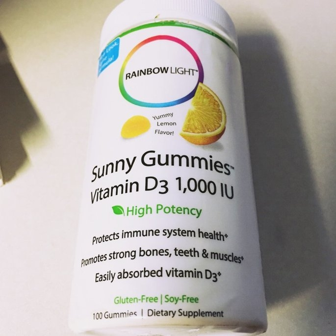 Rainbow Light Vitamin D3 1000 IU Sunny Gummies Sour Lemon uploaded by Sandra C.