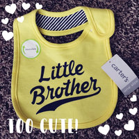 Baby Boy Carter's Family Slogan Bib, Yellow uploaded by Christine L.
