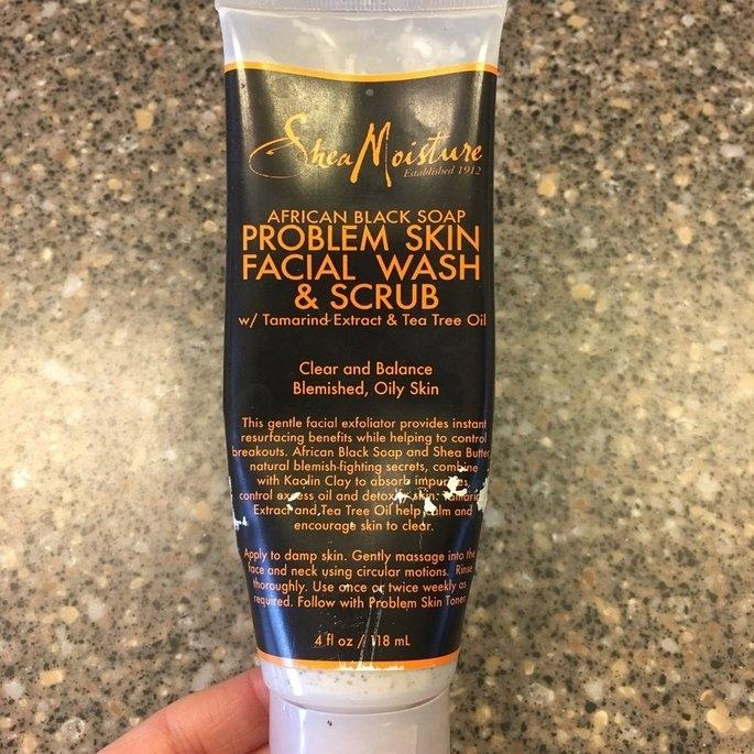 SheaMoisture African Black Soap Problem Skin Facial Wash and Scrub - uploaded by Elisha S.