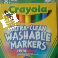Crayola Classic Color Washable Markers wedge tip pack of 8 uploaded by Rebecca A.