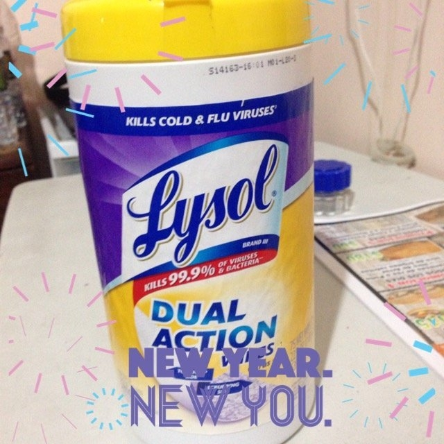 Lysol Dual Action Disinfecting Wipes uploaded by Maria H.