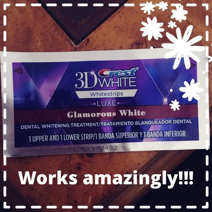 Advanced Seal Crest 3D White Luxe Whitestrips Glamorous White - Teeth Whitening Kit 14 Treatments uploaded by Mystie M.