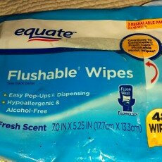 Photo of Equate Fresh Scent Flushable Wipes, 48 sheets, (Pack of 3) uploaded by Jessica M.
