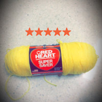 Red Heart Super Saver Yarn-Bright Yellow uploaded by Maeve R.
