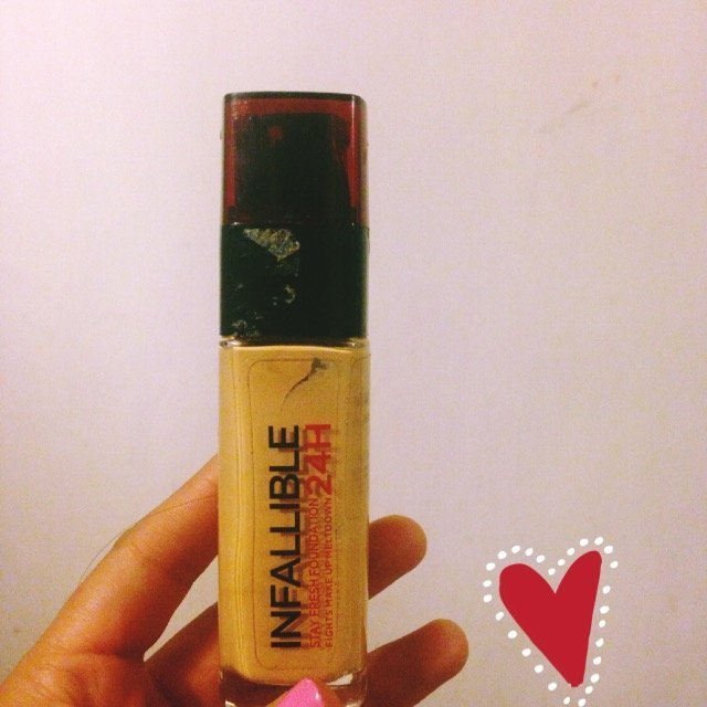 L'Oreal Paris 24H Infallible Stay Fresh Foundation 30ml - 125 Natural Rose uploaded by Melissa S.