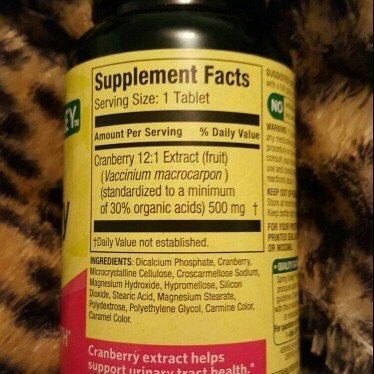 Spring Valley Standardized Extract Cranberry Dietary Supplement, 500 mg, 60 count uploaded by Julie H.