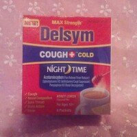Delsym Nighttime Hot Drink Cough + Cold Sachets, Honey Lemon, 8 ea uploaded by Beverly R.