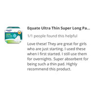 Equate Ultra Thin Super Long Pads With Wings, 16ct uploaded by Kristian C.