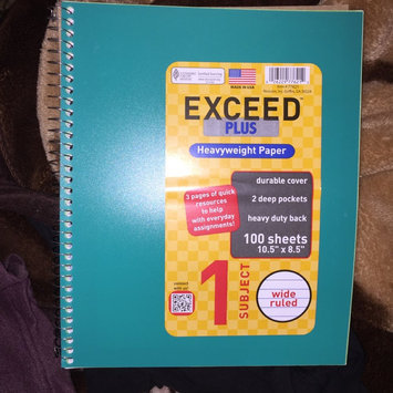 Photo of Generic Exceed Plus 100-Sheet 1-Subject Wide Rule Notebook uploaded by Esmeralda G.