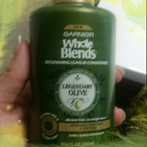 Photo of Garnier Whole Blends™ Replenishing Leave-in Conditioner with Virgin Pressed Olive Oil & Olive Leaf Extracts uploaded by Lovee D.