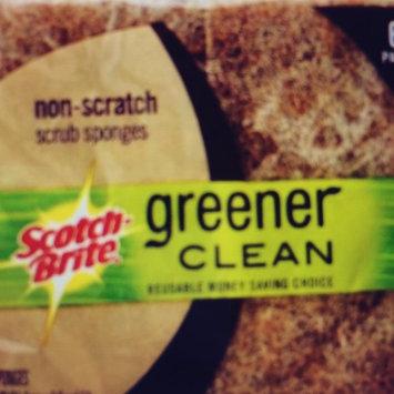 Photo of Scotch-Brite Greener Clean Natural Fiber Scrub Sponges, 6 pack uploaded by Brandy B.
