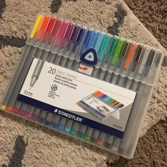 Staedtler Triplus Fineliner Pens, Assorted, Set of 20 uploaded by Kayla S.