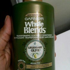 Photo of Garnier Whole Blends™ Replenishing Leave-in Conditioner with Virgin Pressed Olive Oil & Olive Leaf Extracts uploaded by Jen M.