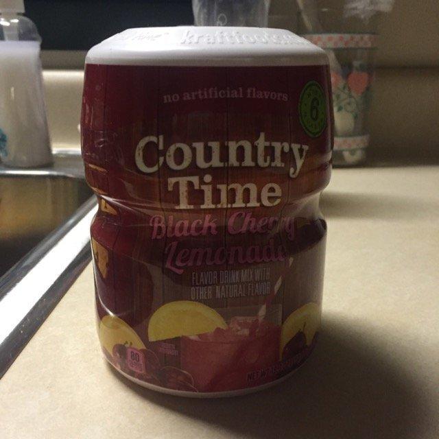 Country Time Black Cherry Lemonade Drink Mix 18.3 oz. Canister uploaded by Dakota M.