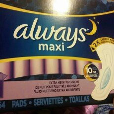 Photo of Always Maxi Size 5 Extra Heavy Overnight Pads with Wings Unscented uploaded by Alicia H.