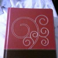 ESV Journaling Bible (Trutone, Raspberry/Chocolate, Flourish Design) uploaded by Tiffany T.