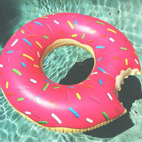 Big Mouth Toys BigMouth Inc Gigantic Donut Pool Float (Strawberry Frosted with Sprinkles) uploaded by Harlee J.
