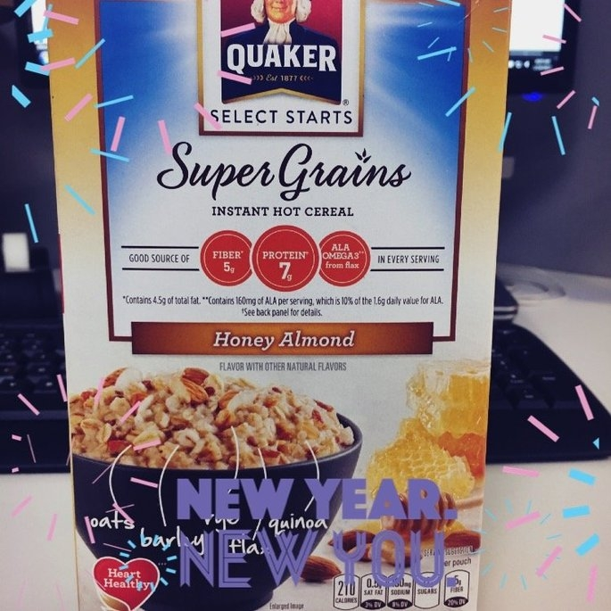 Quaker® Select Starts Super Grains Honey Almond Instant Hot Cereal 6-1.97 oz. Pouches uploaded by Megan S.