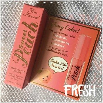 Too Faced Sweet Peach Creamy Peach Oil Lip Gloss uploaded by Candy B.